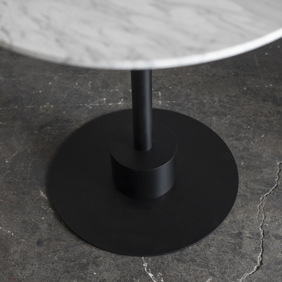 Monotone Cafe Table with Marble Top