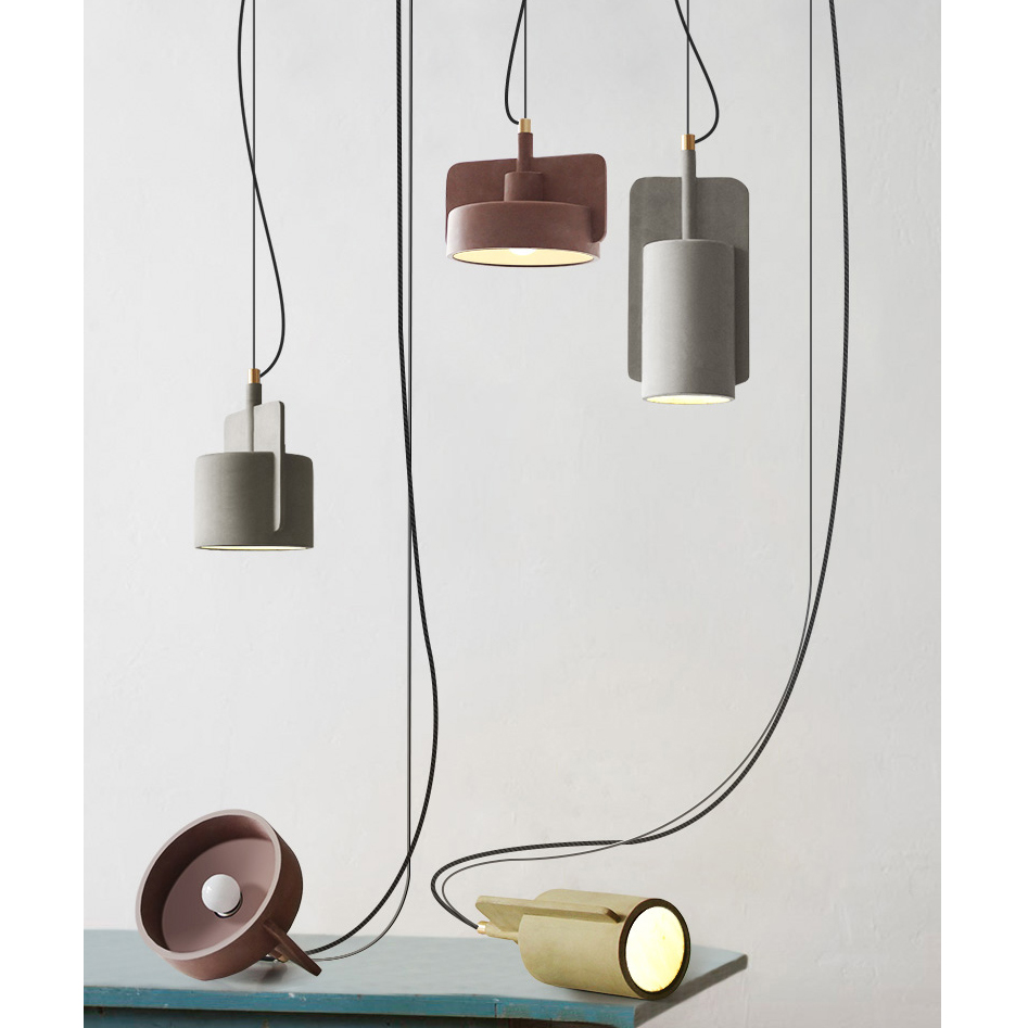 Cement Modern Form Pendant Lamp