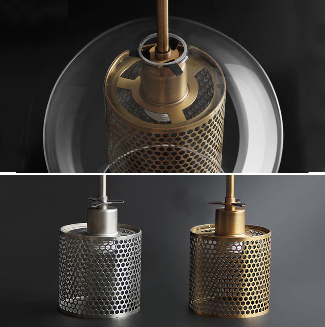 Glass Cover Ball Pendant Lamp
