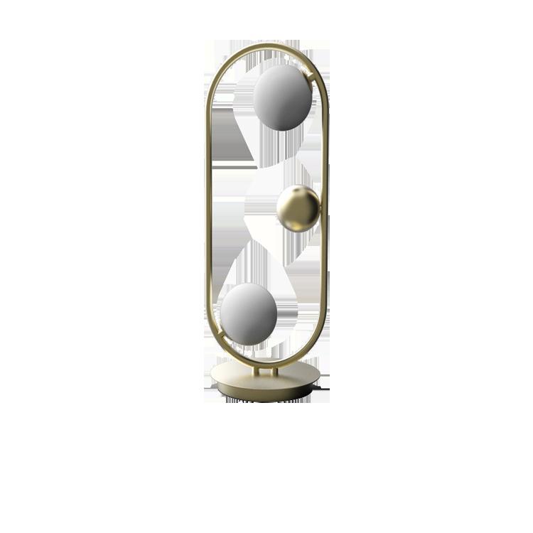 Glass Ball Stand Lamp GD/BK